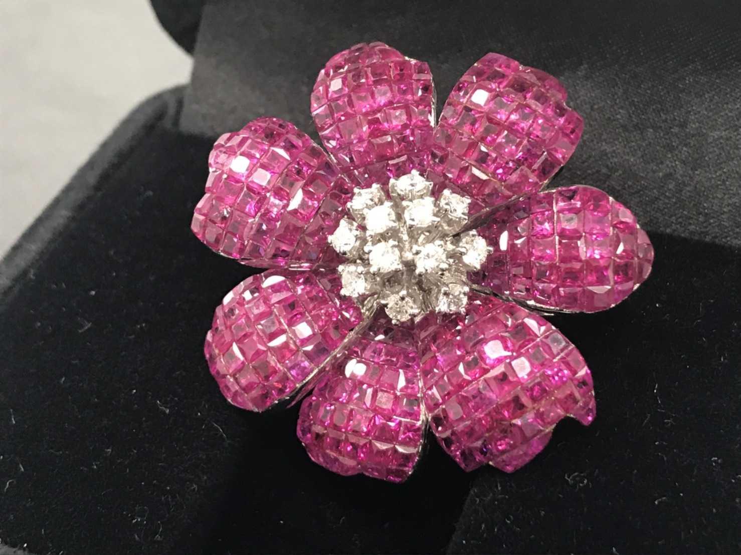 宝石買取 ルビー花形リング