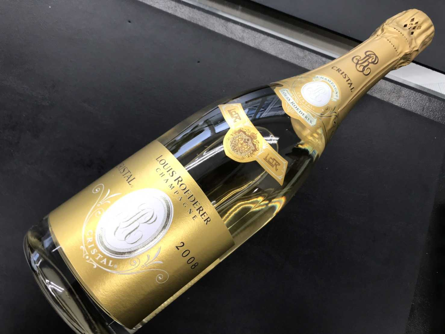 お酒買取 シャンパン クリスタル