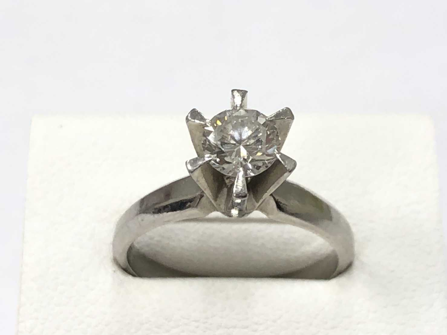宝石買取 立爪ダイヤモンドリング