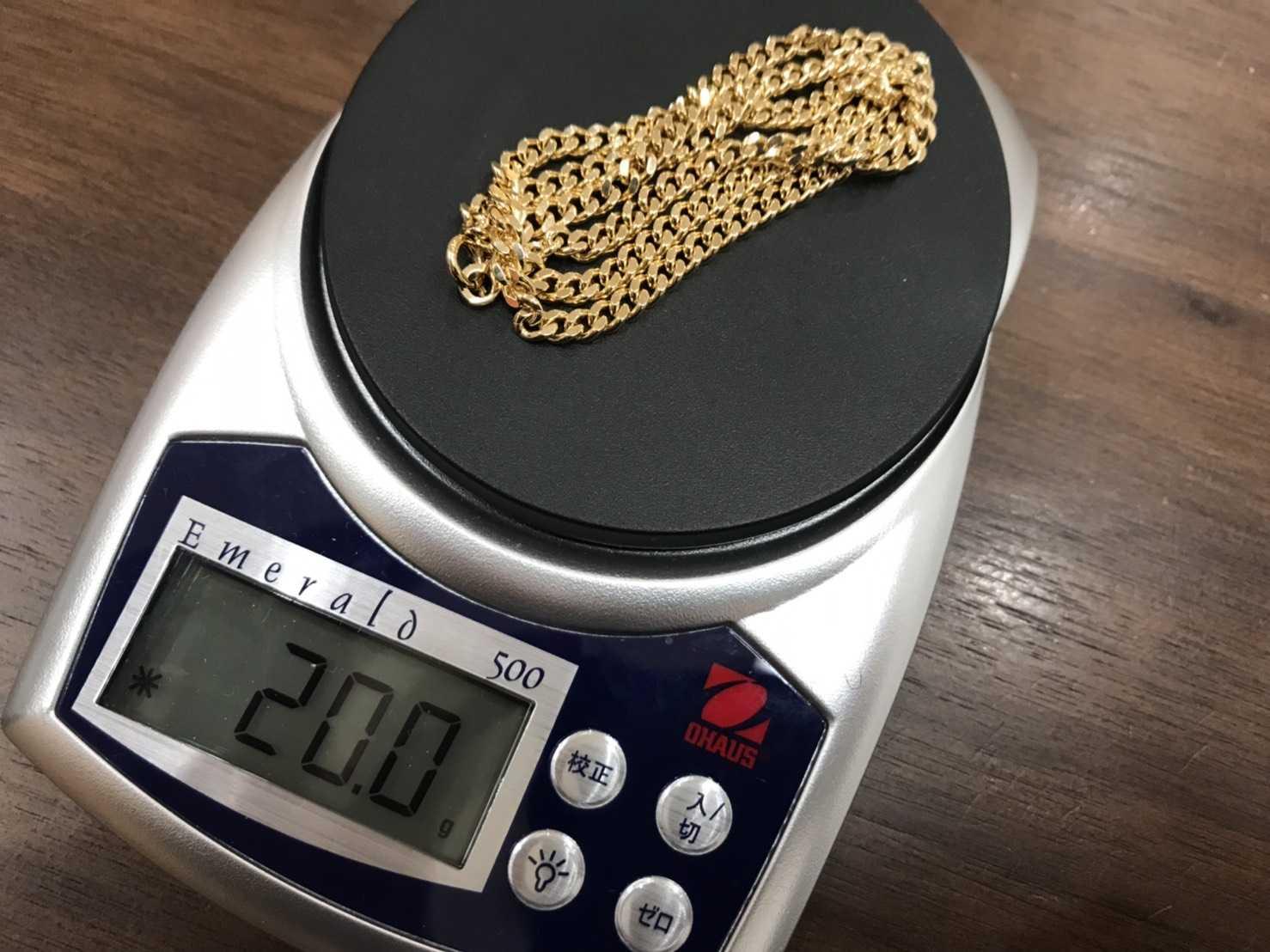 貴金属買取 K18 20.0g 喜平ネックレス