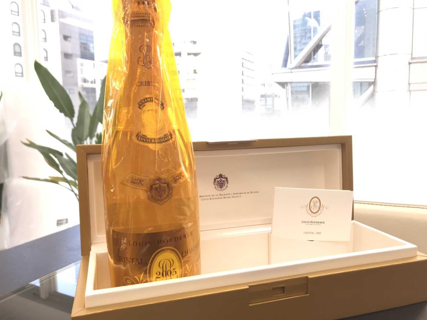 シャンパン買取 ルイロデーロクリスタル2005