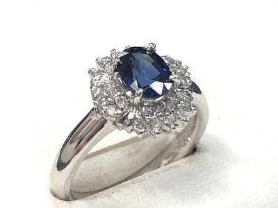 宝石買取 プラチナサファイアダイヤリング