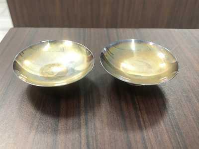 銀買取 純銀杯2点SV1000