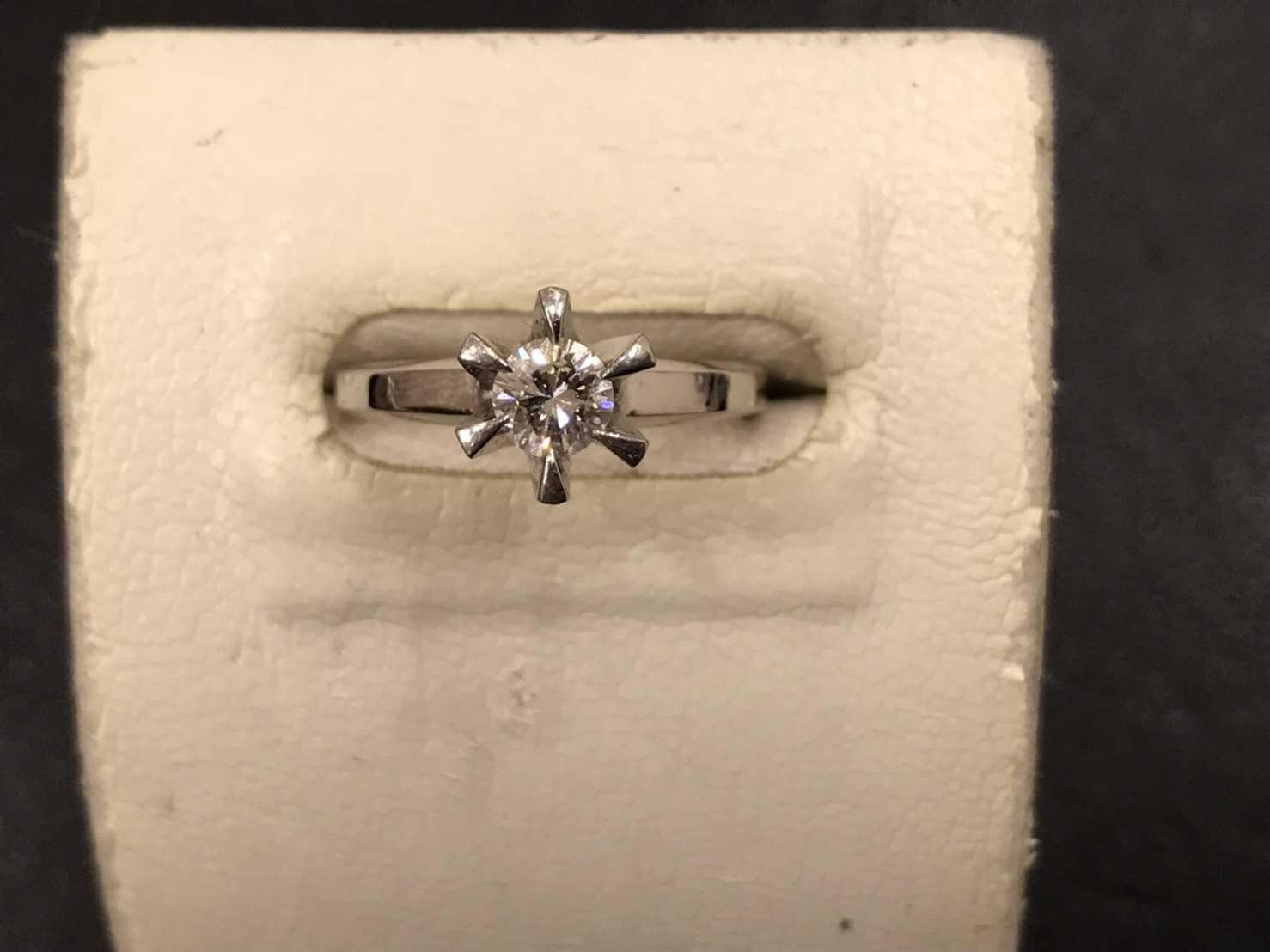 ジュエリー買取 立て爪ダイヤリング