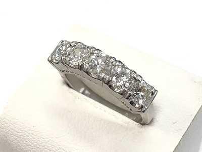 ダイヤモンド買取 一文字ダイヤリングPt850