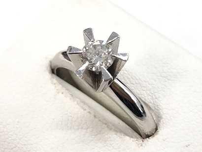 ダイヤモンド買取 6本爪ダイヤモンドリング