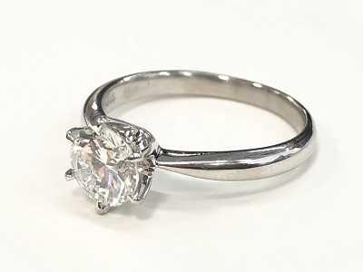 ダイヤモンド買取 プラチナエンゲージリング1カラット