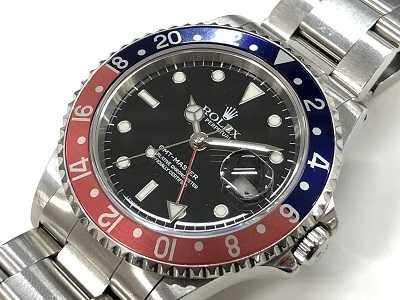 ロレックス買取 GMTマスター赤青時計