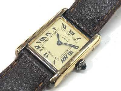 カルティエ買取 マストタンクヴェルメイユ時計