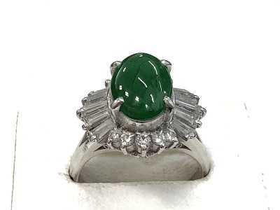 宝石買取 ひすいダイヤリングプラチナ貴金属