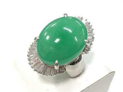 宝石買取 ひすいダイヤモンドリングカラーストーン