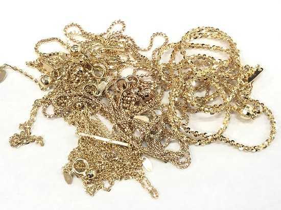 金買取 K18金ネックレス多数貴金属