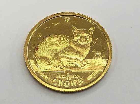 金買取 純金の金貨K24猫