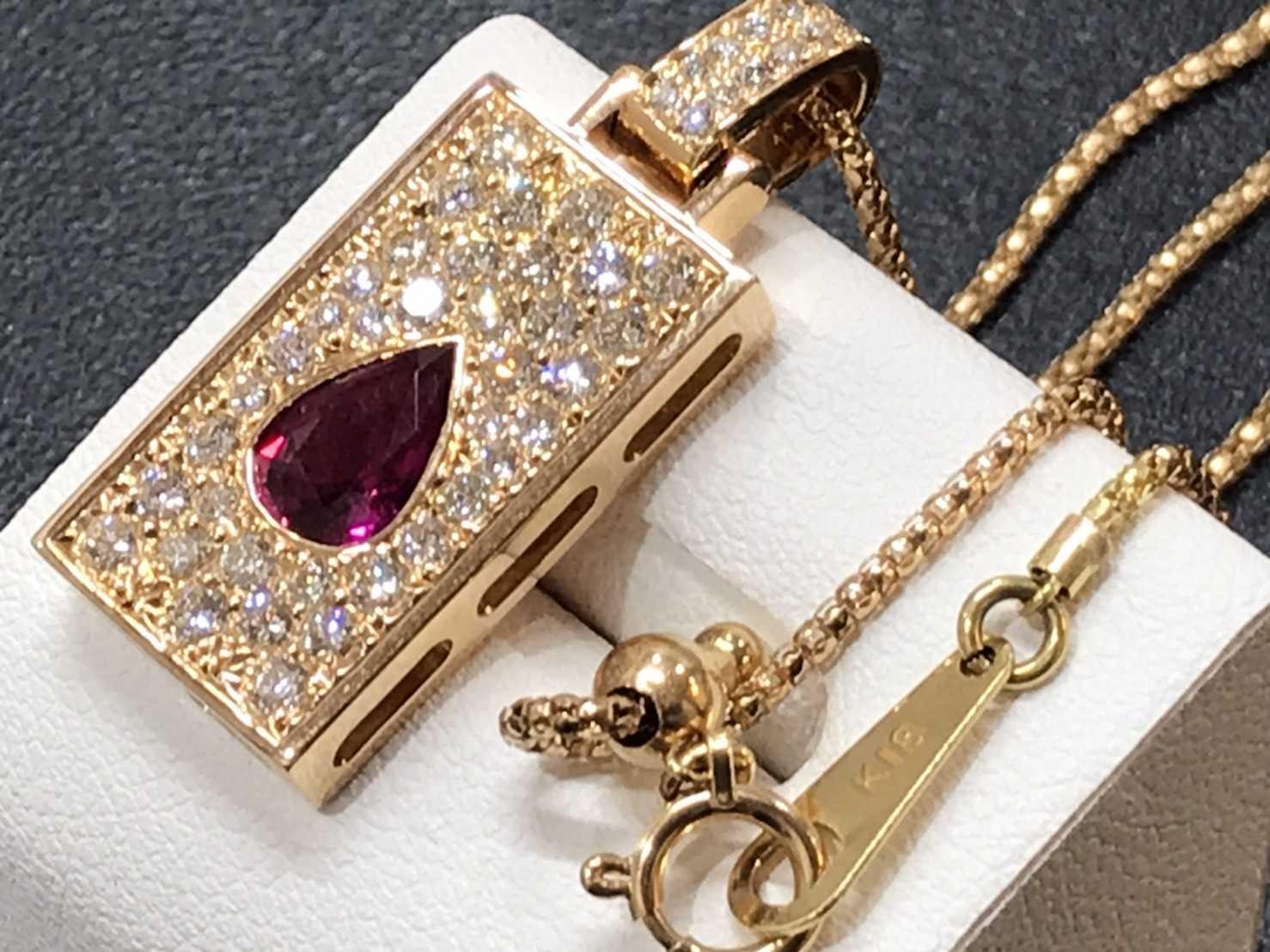宝石買取 ダイヤモンドルビーネックレス