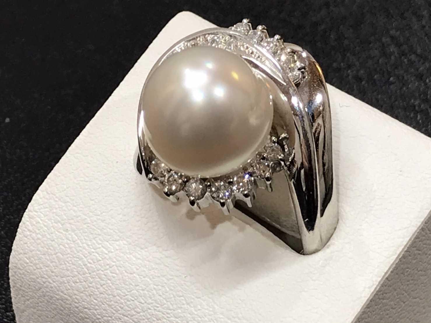 宝石買取 ダイヤモンドパールリング