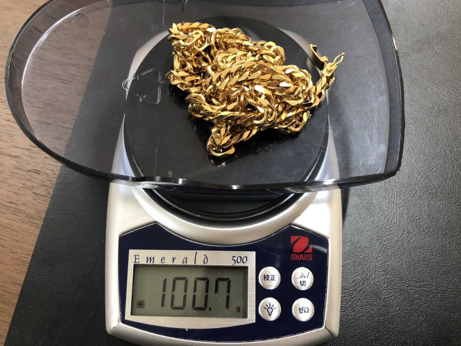 金買取 18金喜平ネックレス 100.7g