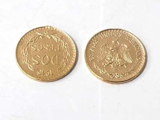 金買取 21.6金2ペソコイン1.6グラム×2枚