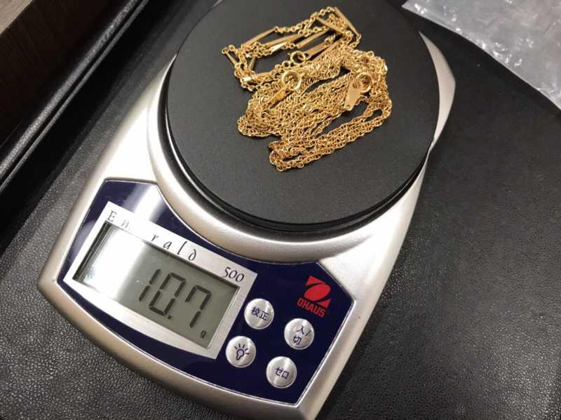 貴金属買取 K18 ネックレス 10.7g