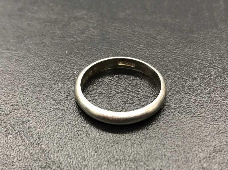 プラチナ買取 「Pm」刻印のリング