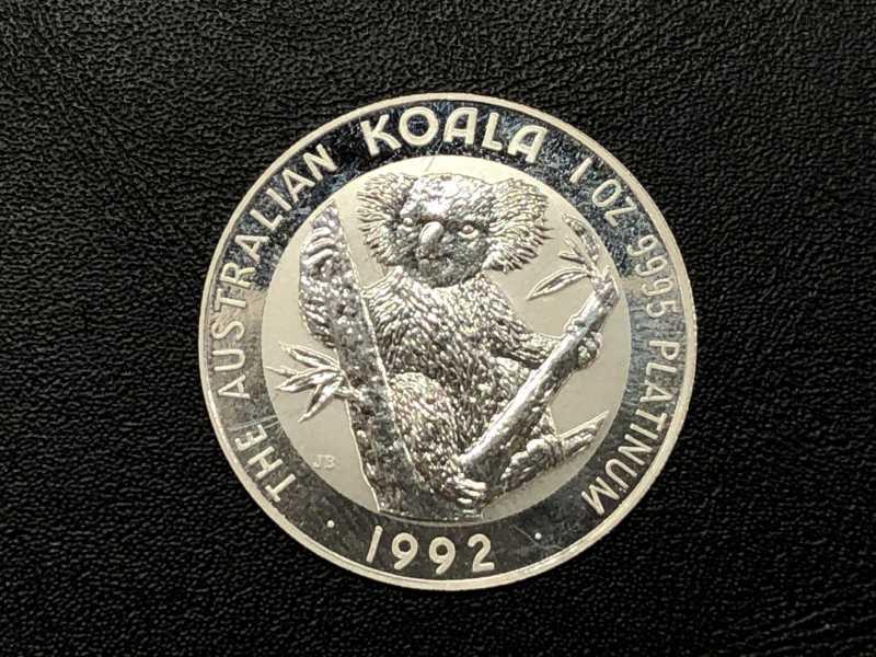 プラチナ買取 Pt1000コアラコイン 1オンス 31.1グラム