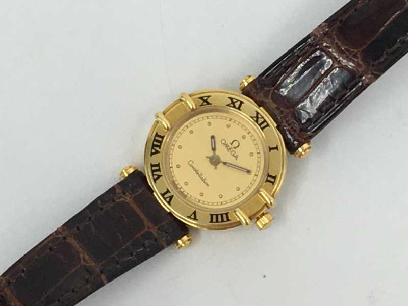 オメガ買取 婦人用金無垢時計