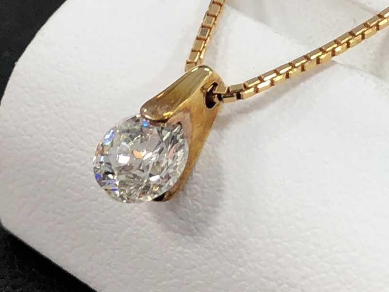ダイヤモンド買取 1カラットペンダントネックレス