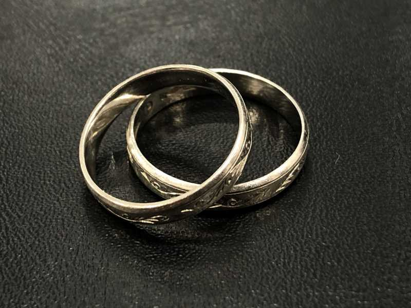 プラチナ買取 指輪Pt900刻印2点 6.3グラム