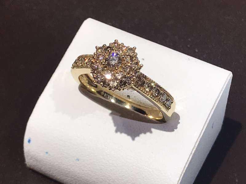 ダイヤモンド買取 イエローゴールドリング