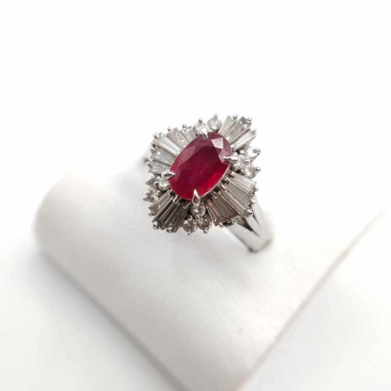 宝石買取 リング ルビー プラチナ ダイヤモンド