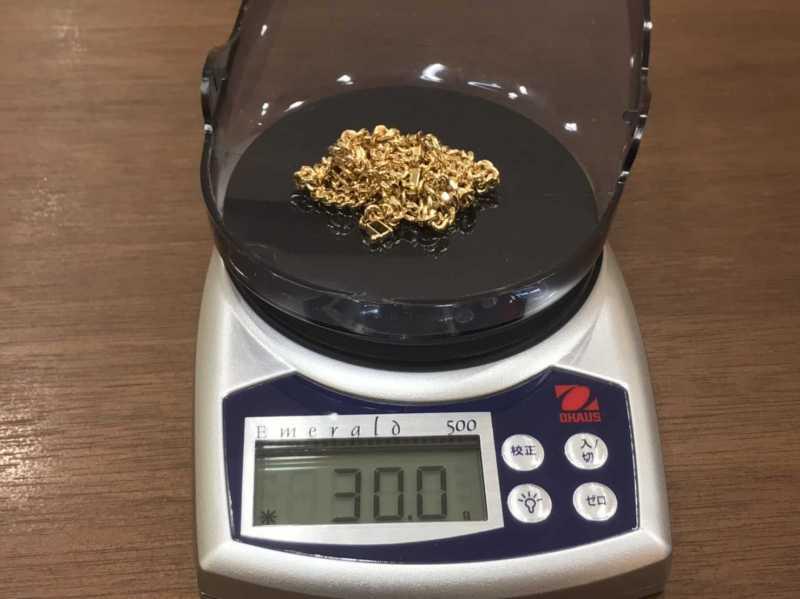 貴金属買取 K18 ネックレス 30.0g