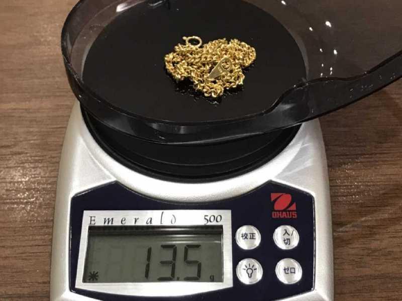 貴金属買取 K18 ネックレス 13.5g