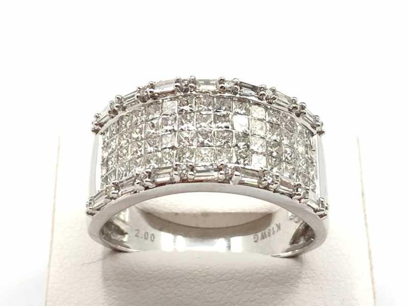 ダイヤモンド買取 ミステリーセッティングプリンセスダイヤリング