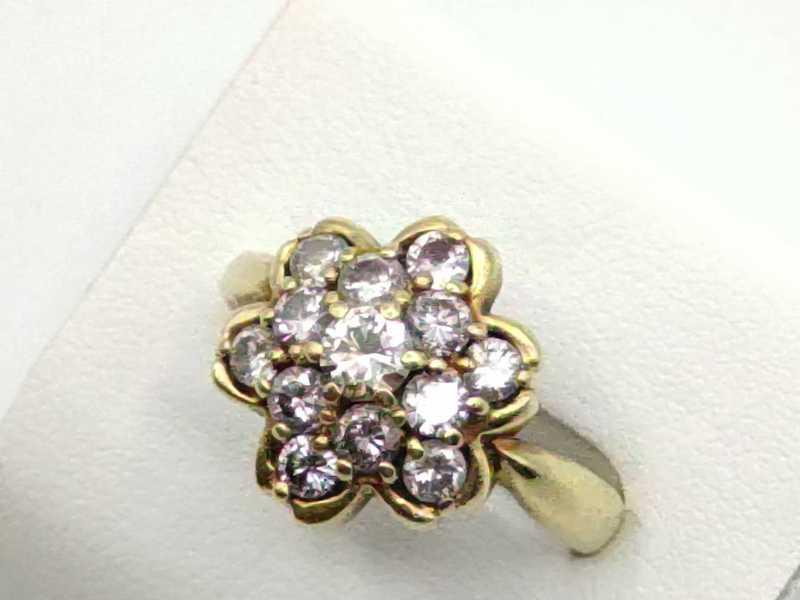 ダイヤモンド 買取 フラワーモチーフ 指輪