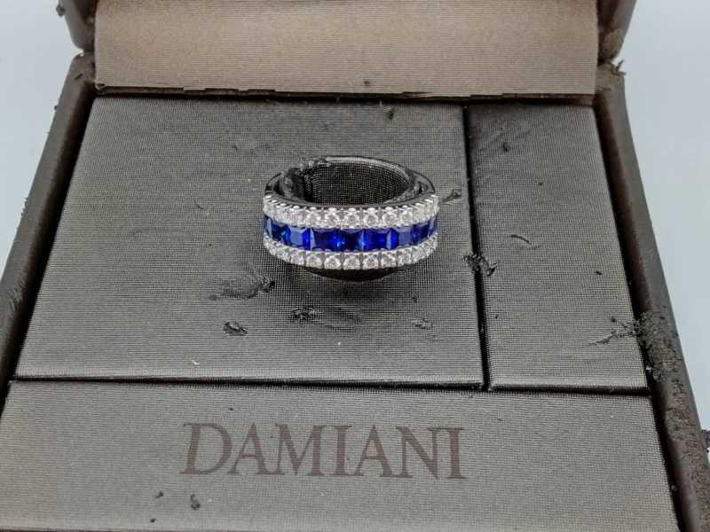 ダミアーニ買取 サファイアダイヤモンドリング