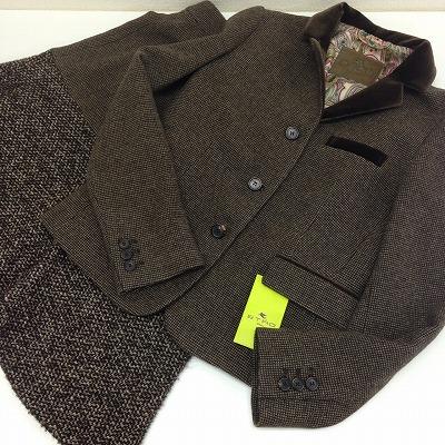 ETRO エトロ スカートスーツ ウール ブラウン 44