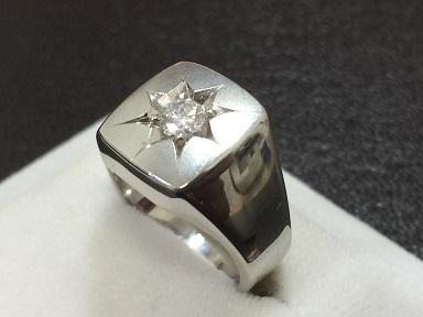 ダイヤモンドリング Pt850 0.23ct