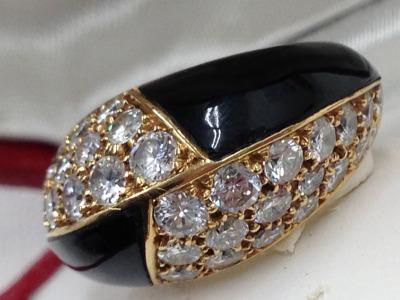 MAUBOUSSIN モーブッサン ダイヤモンド エナメル リング