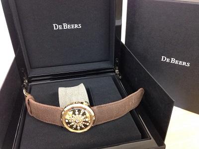DeBEERS デビアス買取 サンタイム 750×革ベルト 時計買取はやっぱりMARUKA