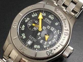 ORIS オリス買取 ビッグクラウン コマンダー ダイバー レギュレーター 649 7502 41 64M 時計買取MARUKA