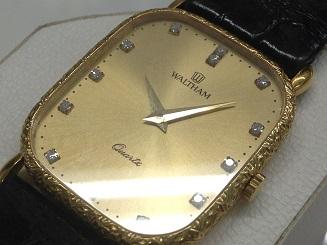 Waltham Watch Company ウォルサム メンズウォッチ K18 革ベルト ダイヤインデックス