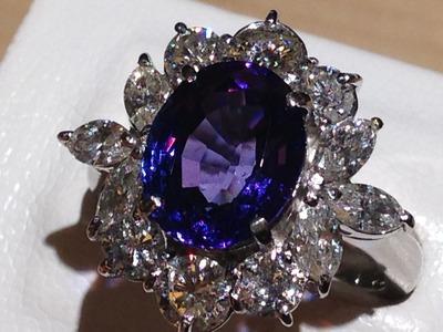 タンザナイト ブルーゾイサイト 4.72ct 2.15ct ダイヤモンド プラチナリング 宝石買取 MARUKA 四条店