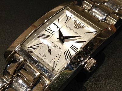 EMPORIO ARMANI エンポリオアルマーニ レディースウォッチ SS ステンレス 腕時計 クォーツ 高価買取 宅配買取 西日本