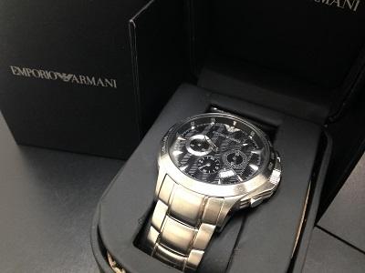 EMPORIO ARMANI エンポリオアルマーニ メンズウォッチ クロノグラフ AR0636 SS ステンレス 腕時計 クォーツ 中古 高価買取 宅配買取 西日本