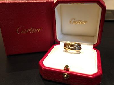 Cartier カルティエ トリニティリング 750 スリーカラー ブランドジュエリー 高価買取 出張買取