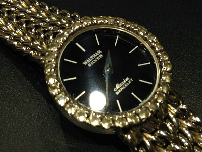 WALTHAM ウォルサム マキシム レディースウォッチ SV925 シルバー ベゼルダイヤ 腕時計 クォーツ時計 高価買取 福岡天神店