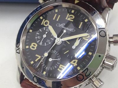Breguet ブレゲ アエロナバル TypeXX Ref.3800 SS ステンレス 革ベルト クロノグラフ 腕時計 高価買取 宅配買取 西日本