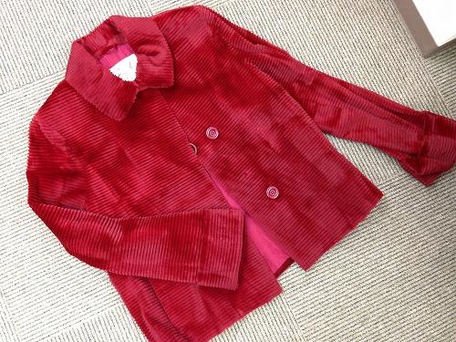 西日本宅配買取 シェアードミンク ジャケット 赤 20年前
