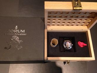 CORUM コルム バブル コレクターズシリーズ2005 プライベティア 082.150.20 SS 革