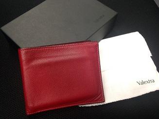 Valextra ヴァレクストラ 二つ折り財布 カードケース カーフ レッド